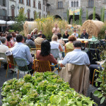 Un momento degli incontri in Piazza vecchia