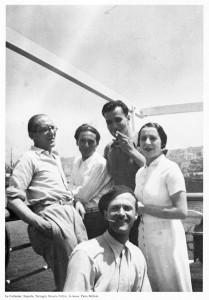 Le Corbusier (a sinistra) con Piero Bottoni e Giuseppe Terragni (Archivio Bottoni)
