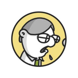 JOHN, il cad manager. Dentro lo studio di Archibald, è l'esperto di computer responsabile di tutto il software e l'hardware. Potete immaginare quanto sia difficile il suo lavoro sapendo che Archibald odia i computer. L'esperto di computer è un vero specialista, il nerd di cui ogni studio ha bisogno.