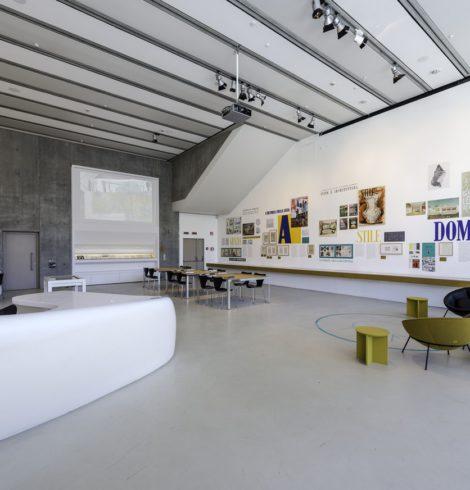 MAXXI Museo nazionale delle arti del XXI secolo Roma - Sala studio Centro Archivi Mostra Lina Bo in Italia dicembre 2014-marzo 2015 -p1ahtgc1e819u1es012n02oi6f0