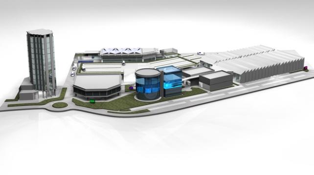Fabbrica Bugatti: rendering dell'ipotesi di progetto del 2013