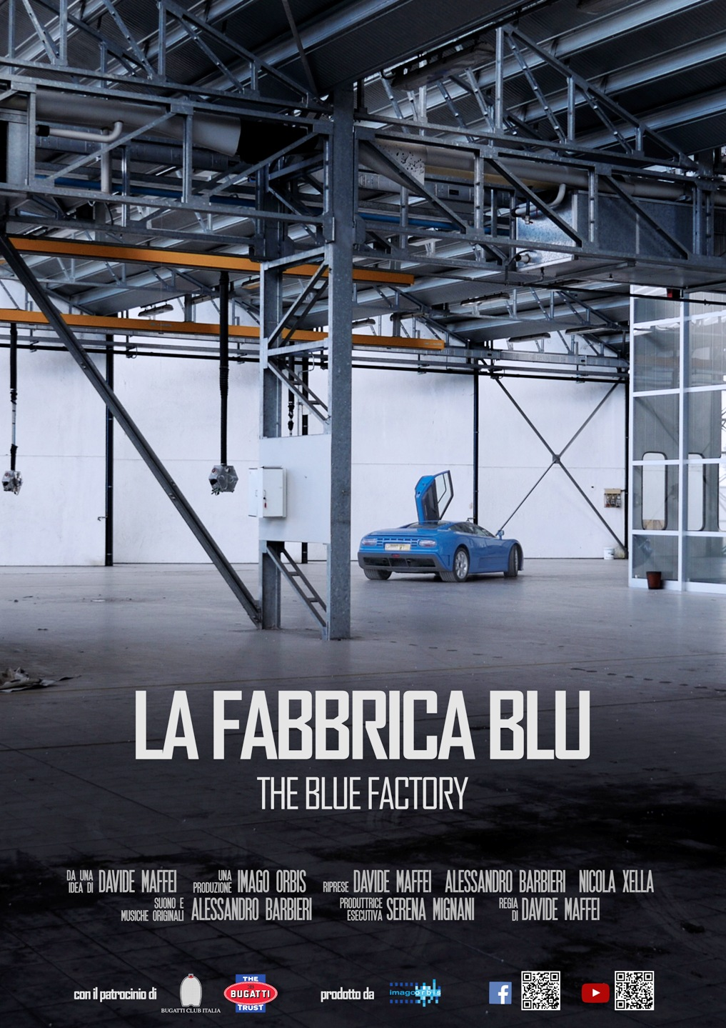 Locandina del docufilm La fabbrica Blu