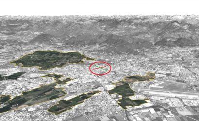 Il centro di Bergamo nel sistema agroambientale della città