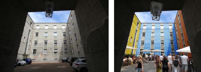 Prima e dopo: la rigenerazione pubblica dei cortili