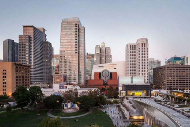 The new SFMOMA, view from Yerba Buena Gardens; photo: © Henrik Kam, courtesy SFMOMA