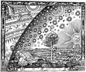 Camille Flammarion, «L'atmosphère: météorologie populaire» (incisione, 1888)