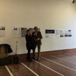 Susanna Mirza (Studio MdAA) con il conte Franz-Ferdinand Huyn (project manager di Palais Campofranco per la società CaDoMa) prima dell'inaugurazione