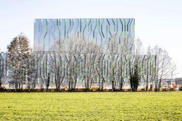 Nuovo magazzino automatico Pedrali, il rapporto con gli alberi (© Filippo Romano)