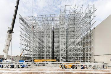 Nuovo magazzino automatico Pedrali, li telaio strutturale (© Filippo Romano)