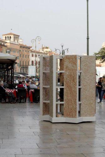 Scrigno, Designed by Leonardo Fatuzzo, Giorgia Laiti, Marco Marogna, CONSORZIO TUTELA PIETRA DELLA LESSINIA (Piazza Bra, Liston)
