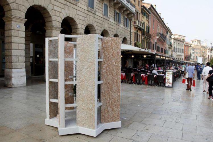 Scrigno Designed by Leonardo Fatuzzo, Giorgia Laiti, Marco Marogna, CONSORZIO TUTELA PIETRA DELLA LESSINIA (Piazza Bra, Liston)
