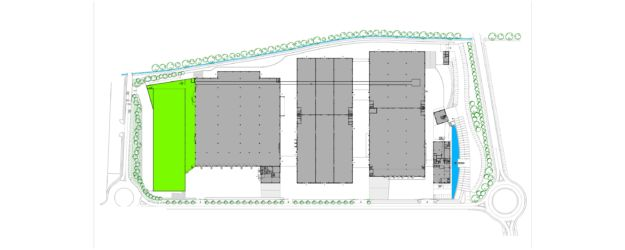 Nuovo magazzino automatico Pedrali, planimetria