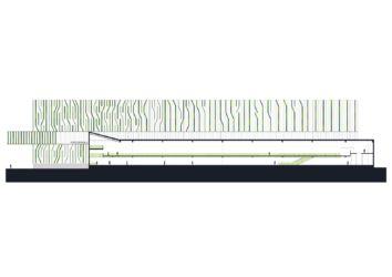 Nuovo magazzino automatico Pedrali, prospetto nord
