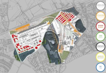 Masterplan per l'area delle miniere di carbone Zeche Zollverein a Essen, Germania, 2001-2010 (© Oma)