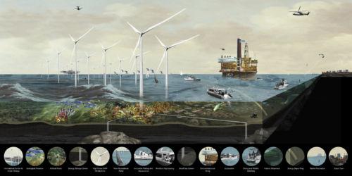 Zeekracht, Studio per un masterplan per il Mare del Nord, 2008 (© Oma)