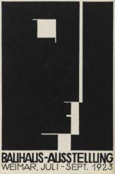 Herbert Bayer, Carte postale pour l'exposition Bauhaus, 1923 Lithographie Photo © Centre Pompidou, MNAM-CCI, Dist. RMN-Grand Palais / Droits réservés