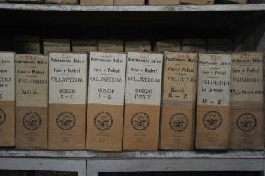 Ca' Granda a Milano - faldoni presso l'Archivio storico (© Elena Franco)
