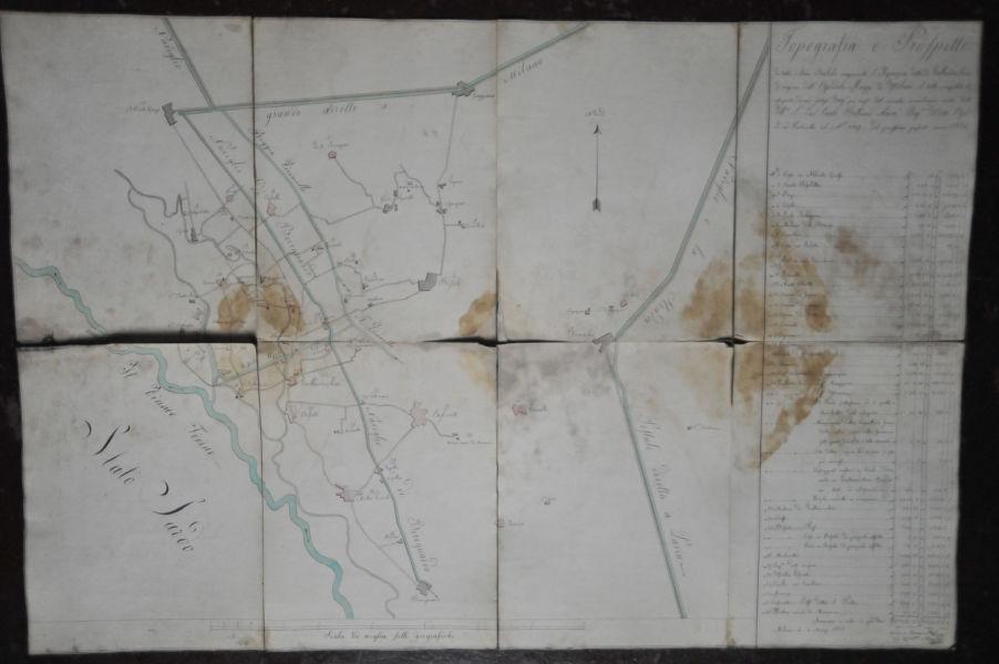 Ca' Granda a Milano - mappa presso l'Archivio storico (© Elena Franco)