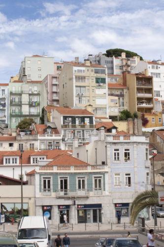 Vista di Mouraria dalla collina di Sant'Ana (di fronte, ad Ovest) © Michele Francesco Barale