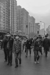 Giornata di forte concentrazione d'inquinamento a Pechino (foto di Marta Mancini)