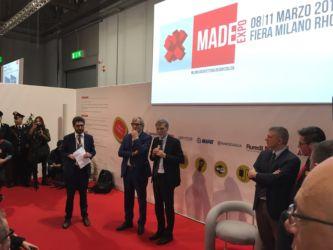 Graziano Delrio e Roberto Snaidero all'inaugurazione di Made expo 2017