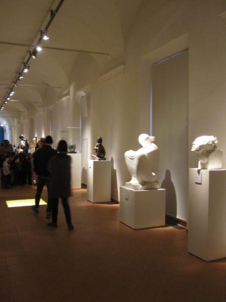 """Pirmo corridoio PT, sezione """"Le radici del gusto Déco. Tra Secessione ed espressionismo"""" (foto © Domenico Mollura)"""