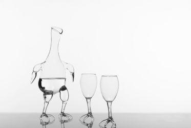 Simone Crestani, Country collection, decanter e bicchieri