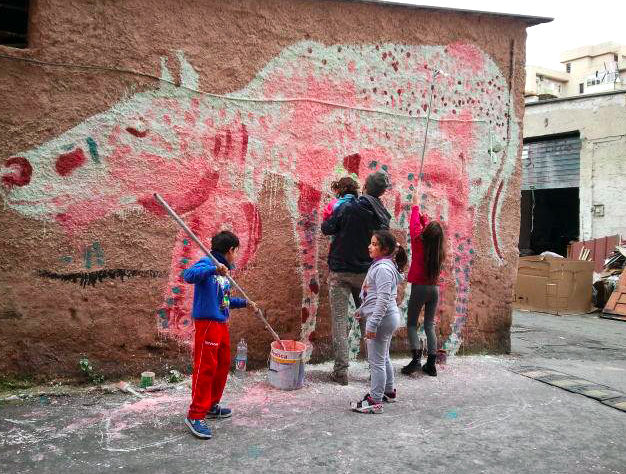 Borgo Vecchio Factory, murales