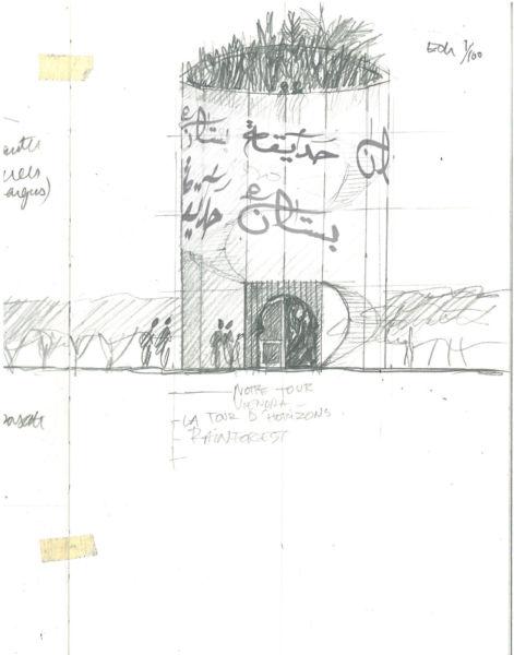 Il paesaggista francese Michel Péna guida i visitatori in un Jardin Parfumé, un giardino verticale per un'esperienza immersiva tra luce e vegetazione.