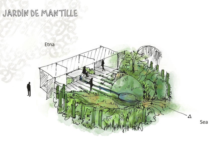 S'ispira alla mantiglia, lo scialle di pizzo usato dalle donne nelle cerimonie, il Jardin de Mantille della francese Maia Agor, attraverso giochi di luci e ombre