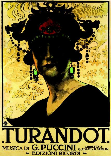 Leopoldo Metlicovitz, Manifesto per Turandot, 1926, Archivio storico Ricordi, Milano (© esseci)