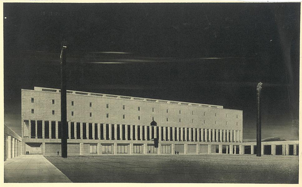 Cesare Valle, prospetto del Palazzo vicereale sull'area grande Ghebì, Addis Abeba, 1939 (archivio eredi Valle, Roma)