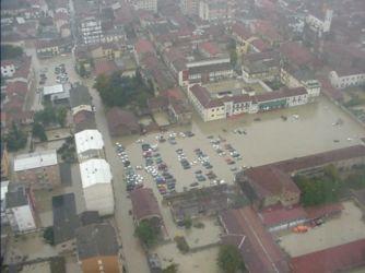 Gli effetti dell'alluvione in Piemonte nel 2000