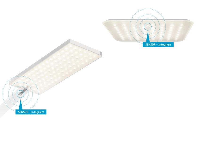 """Le lampade a soffitto si accendono immediatamente e inviano un segnale radio tramite la tecnologia """"Wireless IQ"""" alla soluzione da terra """"Force One Power"""" che si illumina secondo le impostazioni previste"""
