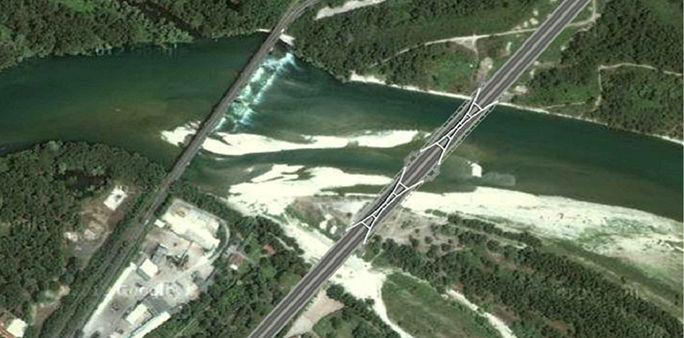 Nuovo ponte sul Ticino a Vigevano (© Pegaso Ingegneria)