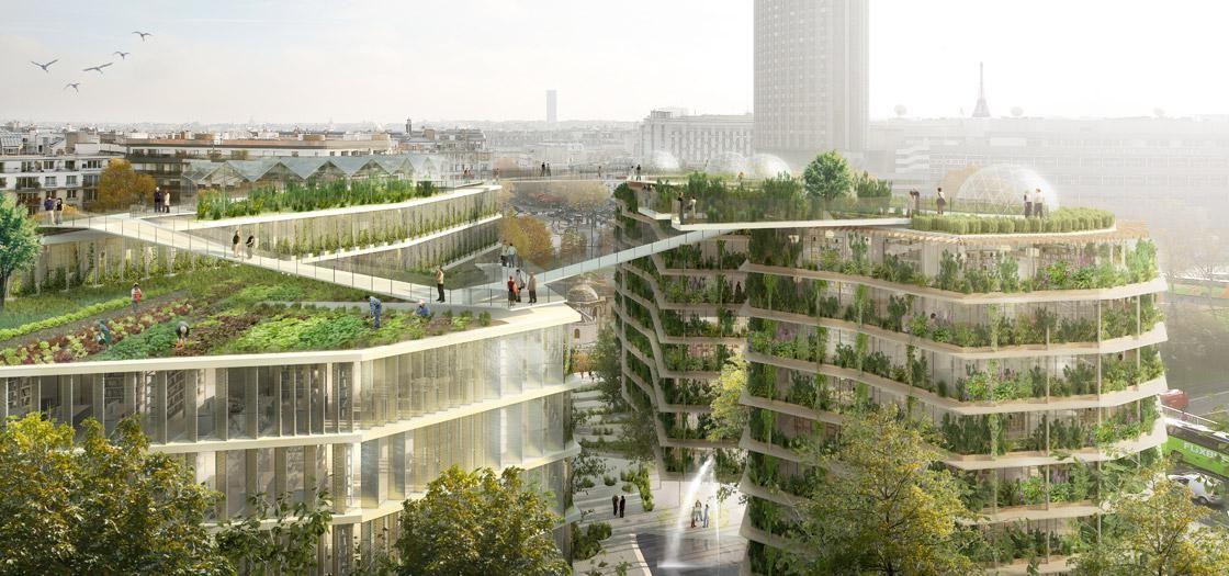 """Studio SLA, progetto vincitore del concorso internazionale di idee """"Reinveter Paris"""""""