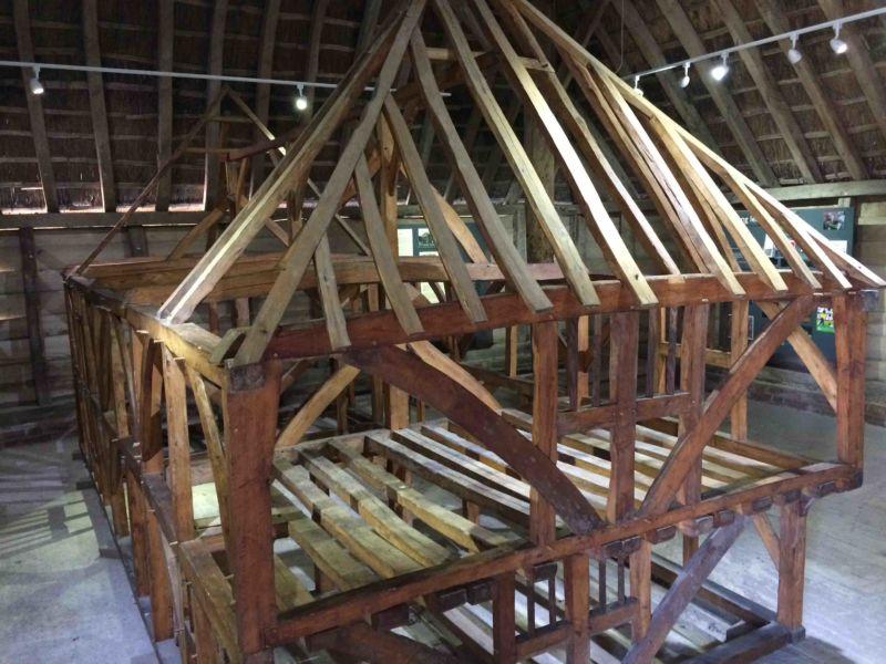 Modello strutturale tipico di fienile dell'Inghilterra meridionale