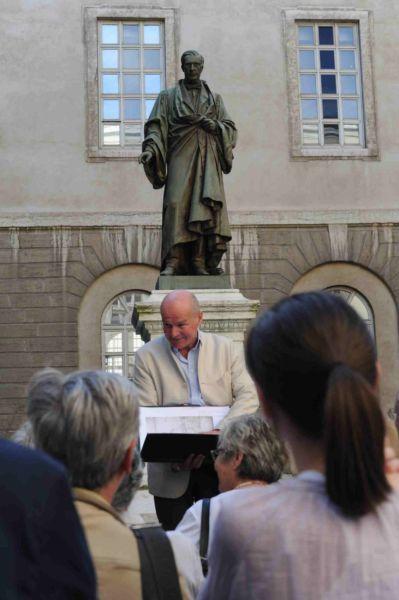 Didier Repellin durante le visite guidate (© Elena Franco)