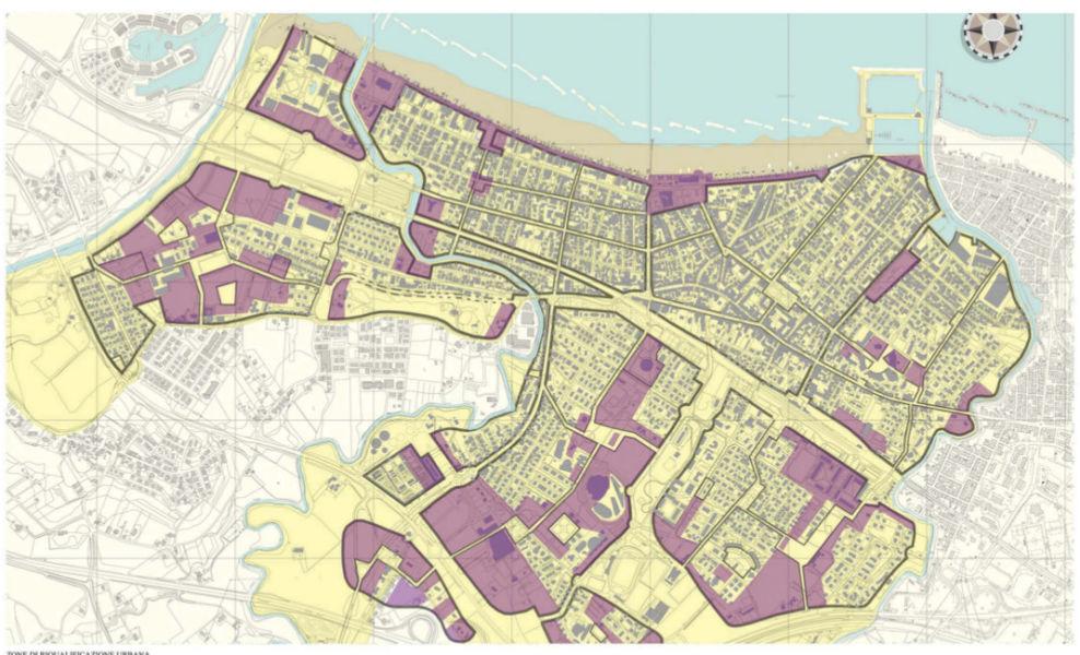 Aree individuate per interventi di riqualificazione urbana