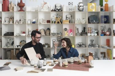 Matteo Brioni e Marialaura Rossiello nello Studio Irvine (© Paola Pansini)