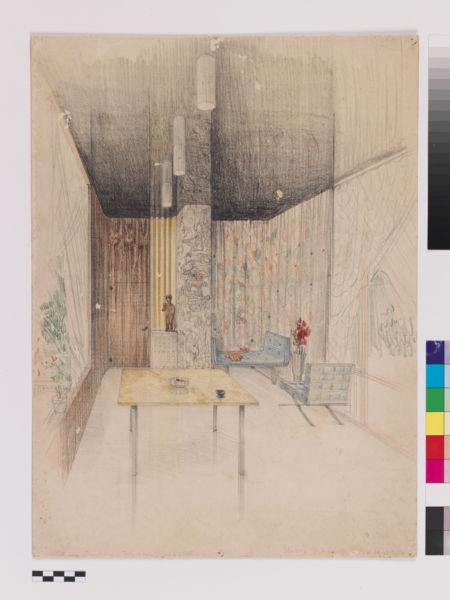 Carlo Scarpa, progetto per la veranda di Casa M al Lido di Venezia, 1937 Archivio Carlo Scarpa, Collezione MAXXI Architettura,  courtesy Fondazione MAXXI, Roma