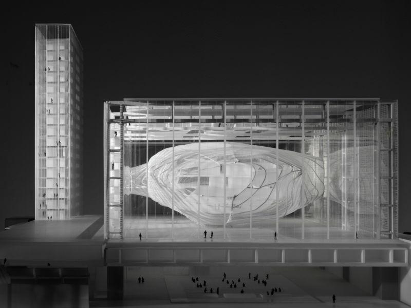 MASSIMILIANO FUKSAS Modello del Palazzo dei Congressi di Roma, 2001, collezione MAXXI Architettura, courtesy Fondazione MAXXI Roma