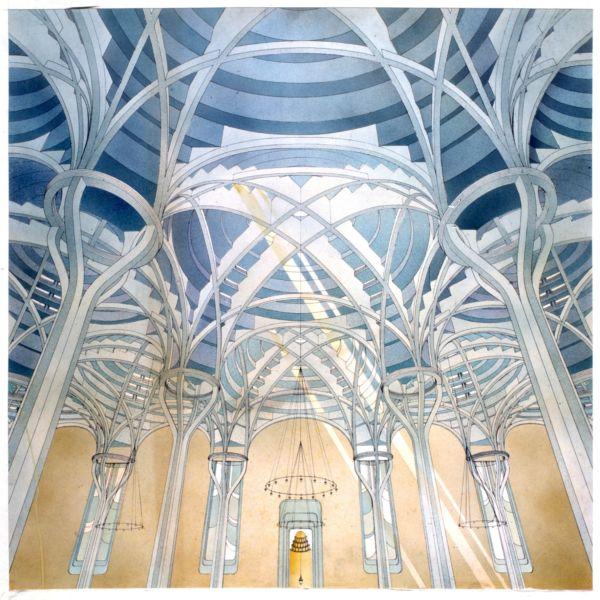 PAOLO PORTOGHESI_02 Moschea e Centro Culturale Islamico, Roma  1984-1995 Disegno courtesy Fondazione MAXXI