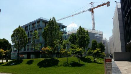 Il complesso multifunzionale di Borgo Berga nell'ex area Cotorossi (progetto del verde di Gonçalo Byrne e João Nunes)