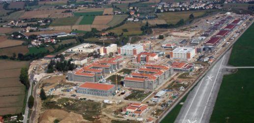 Veduta aerea della base militare dal Molin