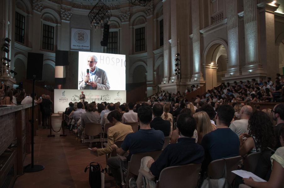 Renzo Piano presenta il progetto architettonico dell'Hospice pediatrico presso l'aula magna Santa Lucia a Bologna