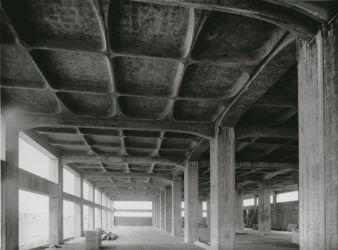 """Pier Luigi Nervi, Manifattura tabacchi a Bologna, 1950 (dal testo """"The Rethoric of Pier Luigi Nervi""""; concessione editore)"""