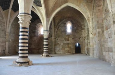La Sala Ipòstila col nuovo pavimento