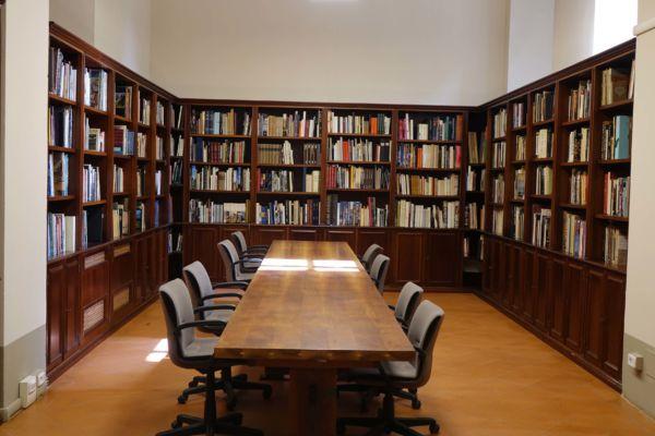Presentazione alla stampa della nuova sede della Fonadazione in Piazza San Firenze Nella foto: Biblioteca (PRESSPHOTO Foto Moggi/New Press Photo)
