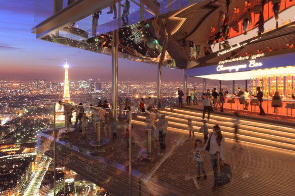 La terrasse panoramique au 58e étage. Crédit Nouvelle AO, Ida+